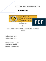 Introduction to Hospitality Hmt-552