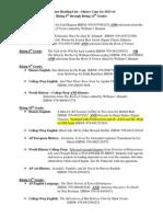 Summer Reading List 2013 6th - 12th
