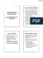 Accounting for Public Liability
