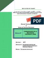 M07-Connaissance de la mécanique théorique RDM BTP-TSCT