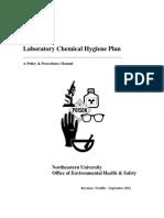 Laboratory Chemical Hygiene Plan - 2012
