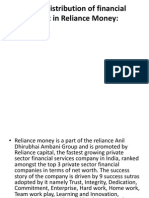 Sales & Distribution of financial product in Reliance Money