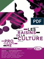 Programme Raisins de la Culture