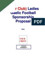 Template for football Sponsorship