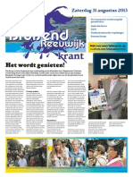 Bruisend Reeuwijk - 28 Augustus 2013