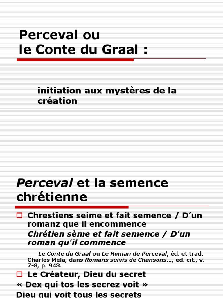 7bcffef398ece9 Perceval Ou Le Conte Du Graal