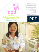 Cooking Korean Food With Maangchi Cookbook Books 1 and 2