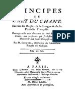 Principes de LArt Du Chant Lecuyer 1769 Copie