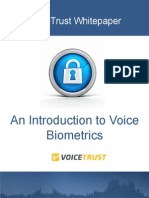 An Introduction to Voice Biometrics