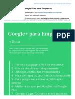 7 Dicas Para Usar o Google Plus Para Empresas