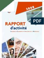 Rapport d'activités CCI Martinique 2008