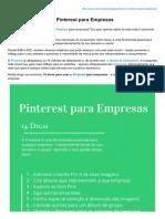 14 Dicas Para Usar o Pinterest Para Empresas