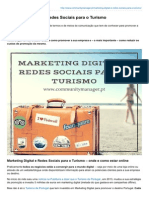 Marketing Digital e Redes Sociais Para o Turismo