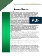 Serene Renew Fact Sheet