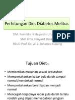 Perhitungan Diet Diabetes Melitus