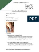 The BRIT School - Student Questionnaire