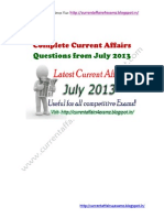 July 2013-Complete Current Affairs