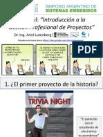 Introduccion a La Gestion Profesional de Proyectos
