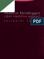 Heidegger 1951-1952 Que-Significa-Pensar