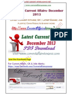 Complete Current Affairs December 2013