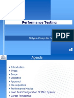 Performance of Testing