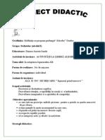 Proiect Didactic ALA 2 GRAD II Cu Pastele