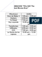 "PROGRAMACION ""TICs DAY The Best Movies Ever"""