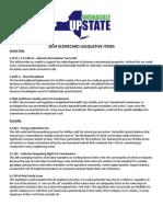 2014 Uu Scorecard Legislative Items