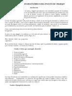 Ergonomia - Metodo Del Analisis Ergonómico Del Puesto de Trabajo