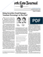 Sizing Securities Fraud Damages Constant Percentage