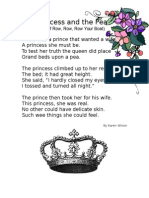 Rhythm and Rhyme Princess and the Pea Poem