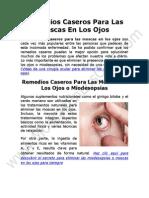 Remedios Caseros Para Las Moscas En Los Ojos o Miodesopsias
