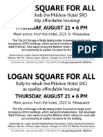 Flyer - Logan Square for All Rally (8/21/14) - 2 Per Page, Bilingual
