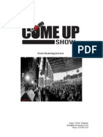 The Come Up Show Event Services 2015