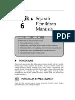Topik 6 Sejarah Pemikiran Manusia