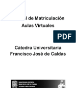 Manual Matricula