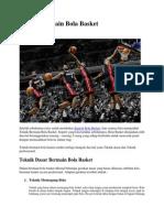 Teknik Bermain Bola Basket