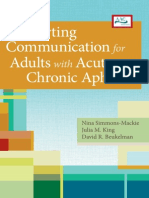 Supporting Communication for Adults With Chronic Aphasia Excerpt