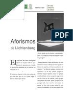 Aforismos de Lichtenberg