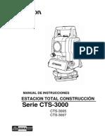 Manual TOPCON (CTS-3000, 3005, 3007)