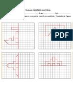 Realizar Dibujos Simétricos Respecto a Un Eje de Simetría en Cuadrícula