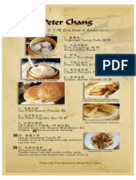 Chang Menu With Home Cooking