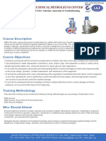 Safety Relief Valve- Selection, Operation & TroubleShooting