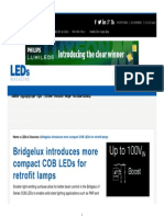 Bridgelux Introduces More Compact COB LEDs for Retrofit Lamps - LEDs