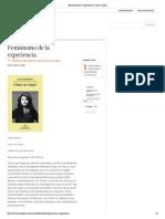 El feminismo de la experiencia