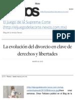 La evolución del divorcio en clave de derechos y libertades