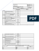 Quality Check List Format