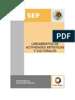 Lineamientos de Actividades Artisiticas y Culturales.
