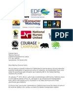 Letter to Attorney General Kamala Harris from supporters of AB 32 vehicle fuel expansion
