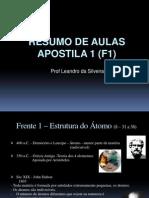 Aulas Resumo Apostila 1 (F1)Modelo St